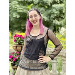 top ALYCIA black dots tulle Les Ours - 1