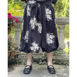 jupe / jupon LINA popeline noire à fleurs Les Ours - 1