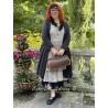 veste longue CAPUCINE voile de coton noir à petits pois blancs Les Ours - 2