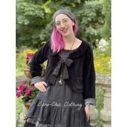 veste réversible ROBINSON velours noir, doublé en coton à carreaux Les Ours - 1