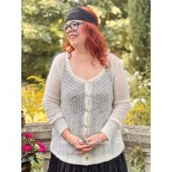 cardigan AMELIE ecru wool Les Ours - 1