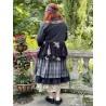 veste MELISSA popeline noire et volants en voile de coton noir à fleurs Les Ours - 6