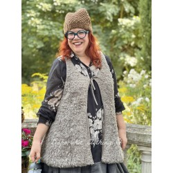 tunic JEANNINE icy brown fluffy wool Les Ours - 1
