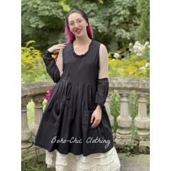 dress JULIA black poplin Les Ours - 1