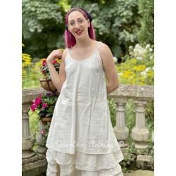 robe LEA voile de coton rayé écru Les Ours - 1
