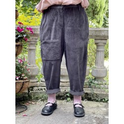 pantalon GASTON velours côtelé gris foncé Les Ours - 1