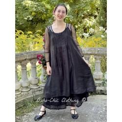 dress ELOISE black linen Les Ours - 1