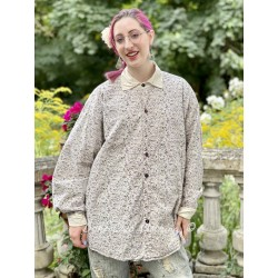 chemise Boyfriend in Hummingbird Magnolia Pearl - 1