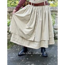 skirt / petticoat 22123 Khaki shirt cotton