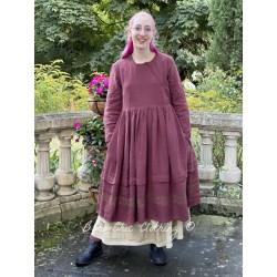 dress 55723 Maroon linen