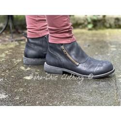 chaussures 99172 cuir Noir Ewa i Walla - 1