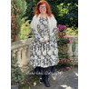 robe 55715 coton Noir à fleurs Ewa i Walla - 3