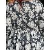 robe 55715 coton Noir à fleurs Ewa i Walla - 12