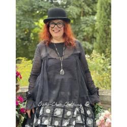 blouse 44802 Vintage black organdie