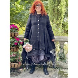 coat 66357 Black wool