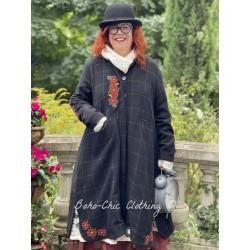 coat 66359 Black wool Ewa i Walla - 1