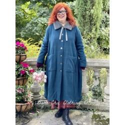 coat 66358 Petrol wool
