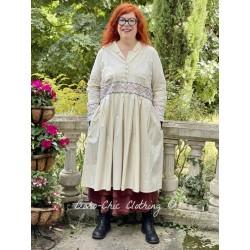 dress 55727 Bone white shirt cotton