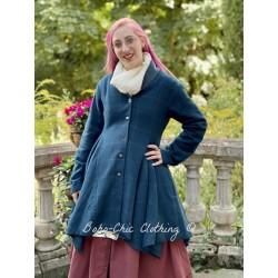 coat 66357 Petrol wool