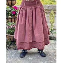skirt / petticoat 22123 Maroon shirt cotton