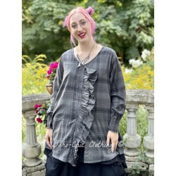tunic CAMELIA checked cotton voile Les Ours - 1