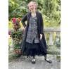 veste longue CAPUCINE voile de coton noir à petits pois blancs Les Ours - 7