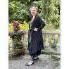 veste longue CAPUCINE voile de coton noir à petits pois blancs Les Ours - 10
