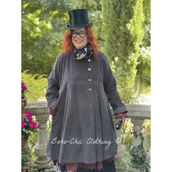 coat LUCIENNE dark grey corduroy Les Ours - 1