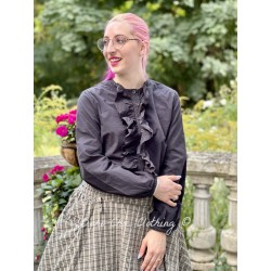 shirt 44794 Vintage black shirt cotton