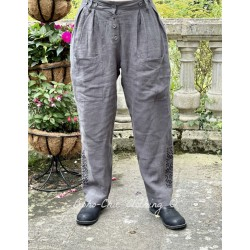 pantalon 11370 lin Anthracite Ewa i Walla - 1