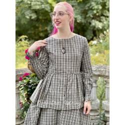 blouse 44855 Checked cotton
