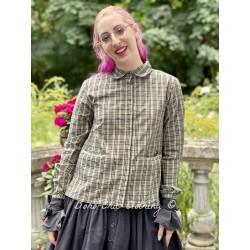 blouse 44856 Checked cotton