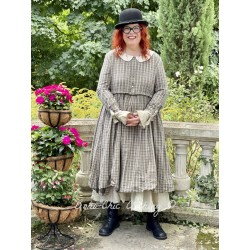 dress 55718 Checked cotton