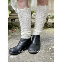 Leg warmers 77522 Cream knitted alpaca