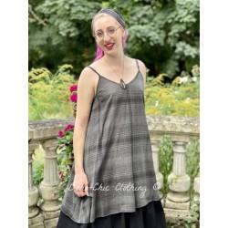robe LEA voile de coton à carreaux