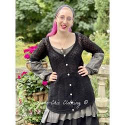 cardigan AMELIE black wool Les Ours - 1