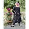 veste MELISSA popeline noire et volants en voile de coton noir à fleurs Les Ours - 10