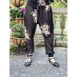 panty FANFAN voile de coton noir à fleurs Les Ours - 1