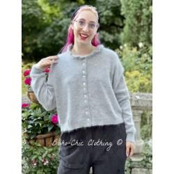 cardigan court GISELE laine gris clair Les Ours - 1