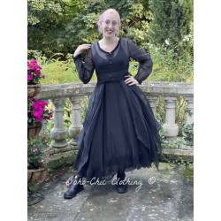 dress 55730 Vintage black organdie Ewa i Walla - 1
