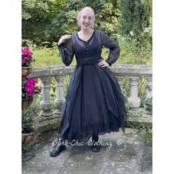 robe 55730 organdie Vintage black Ewa i Walla - 1