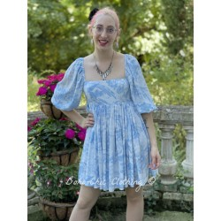 robe Puff Baby Blue Toile Selkie - 1