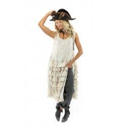 robe Risette Apron in Moonlight Magnolia Pearl - 2