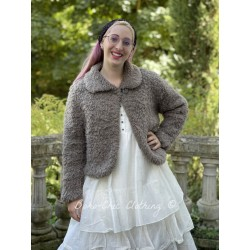 jacket ALBERT icy brown fluffy wool Les Ours - 1