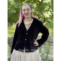 jacket ALFRED black velvet Les Ours - 1
