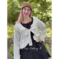 veste réversible ROBINSON velours écru, doublé en coton noir à fleurs Les Ours - 1