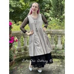 dress JULIA taupe poplin Les Ours - 1