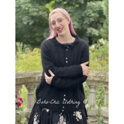 long cardigan GISELE black wool Les Ours - 1