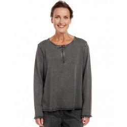 blouse 44808 Antracit cotton knit Ewa i Walla - 1