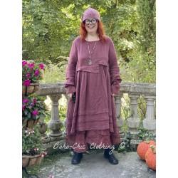 dress 55725 Maroon linen Ewa i Walla - 1